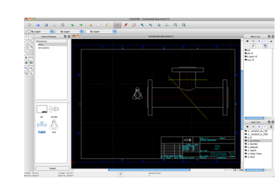 Librecad free open source 2d cad librecad screen shot malvernweather Image collections